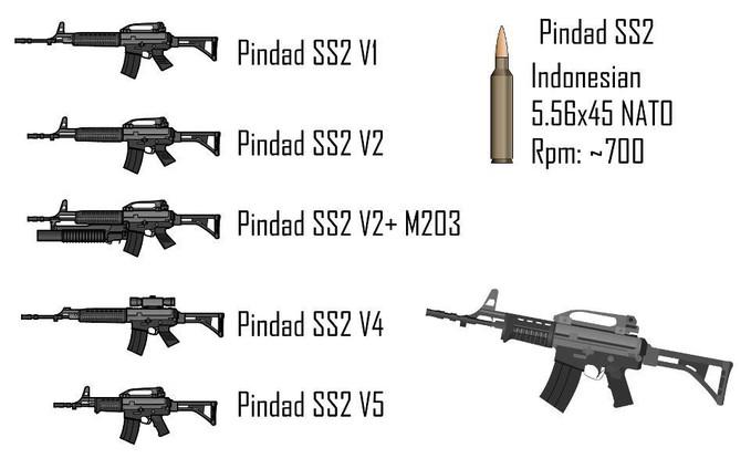 PINDAD SS 2 V1-V5