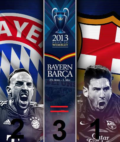 Who Will Win? 1= Barcelona 2= Bayern Munich 3= Draw