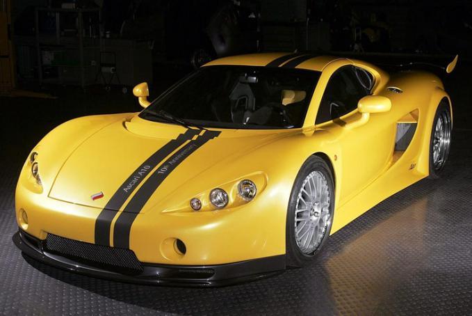 Ascari A10 Mobil tercepat didunia versi TopGear! Kecepatan 355KM/J, 0-100KM/J in 2.8 secs. Mesin BMW V8 S62 5000cc dengan 625 HP. Harga: $650,000 atau Rp.6M