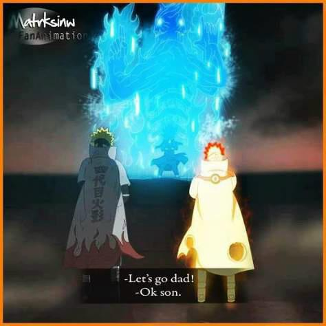 Minato and Naruto vs Madara semoga ini benar-benar muncul di anime naruto