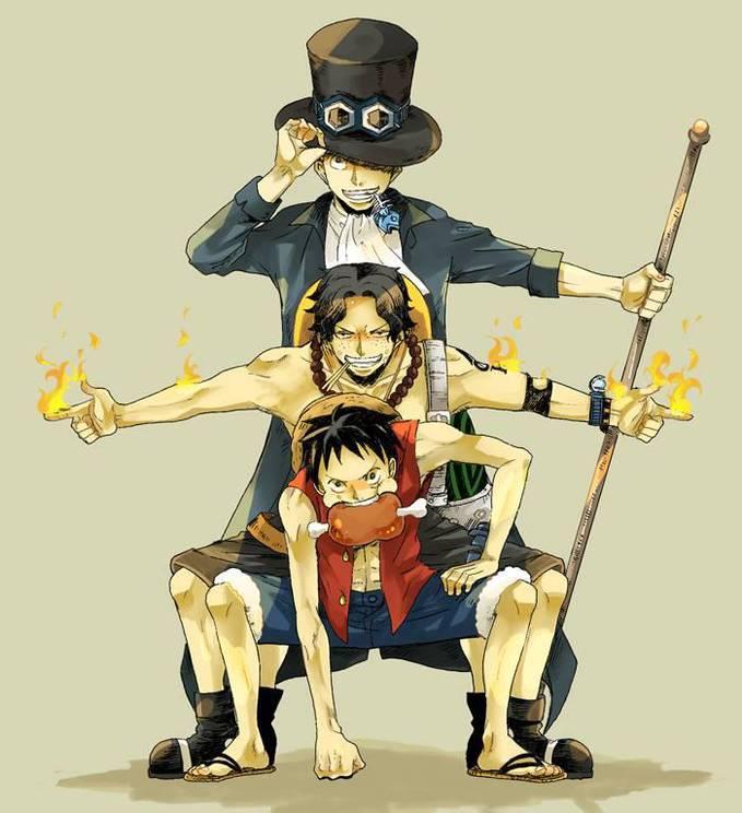 3 Bersaudara .. Luffy ,, Ace & Saboo