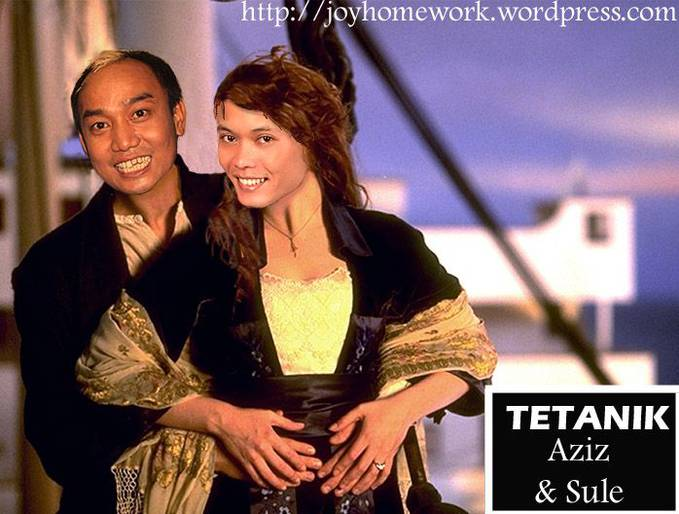 Hahaha.... Leonardo Di Aziz dan Sule Winslet :D Hahaha ^_^