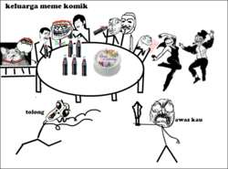 keluarga meme komik. klik wow yaaaaa