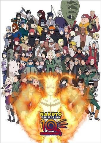 10th Annivesary Naruto Animation