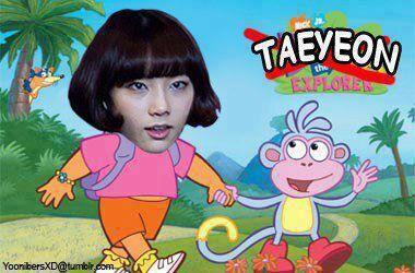 TaeYeon The EXPOLREN .. Tae Eonnie jdi dora hahahahha .. mana wownya ??