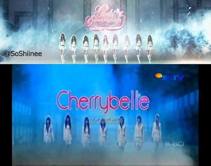 CherryBelle plagiat SNSD keterlaluan bgt yahh si CB ini.. :@ Kreatif donk,,jgn cuma bisa niru hasil karya orang !! Be Creative !! yg Stuju klik WOW yaa ;)