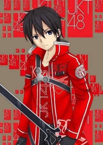 Mana nih Pencinta Anime.?? pasti kenal kan dengan tokoh anime ini.?? iyaa betul dia adalah kirito ,Anime: Sword Art Online liat nohh Kirito ternyata Fans JKT48 lho...!!
