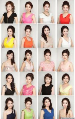 Astaga, Semua Finalis Miss Korea 2013 Punya Wajah Mirip!