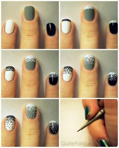nail art ni simple, cantik n gampang bkinnya. silahkan mencoba :)