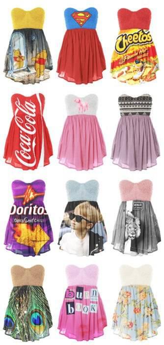 ketika cemilan dan minuman menjadi dresss yang mana yang bakalan kamu pilih ????? jagn lupa wow nya y
