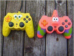 Kreasi Designer Penggemar Kartun Spongebob Membuat Stick Game Console Dengan Desain Spongebob dan Sahabatnya Patrick. Kalian Lebih Pilih yang mana PULSKER ? ------ Ayo Kita Dukung Social Media