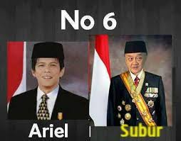 Anda Setuju Enggak Kalo Pasangan Presiden Ariel NOAH dengan Eyang Subur?