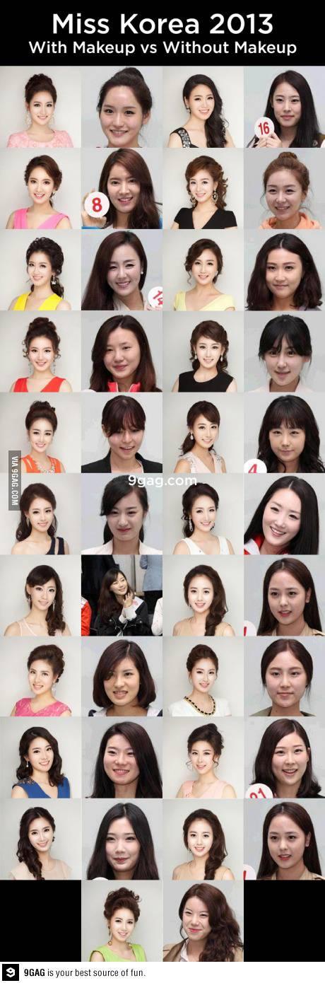 Miss Korea 2013 Tanpa Make Up hhha ternyata jauh beda ya.