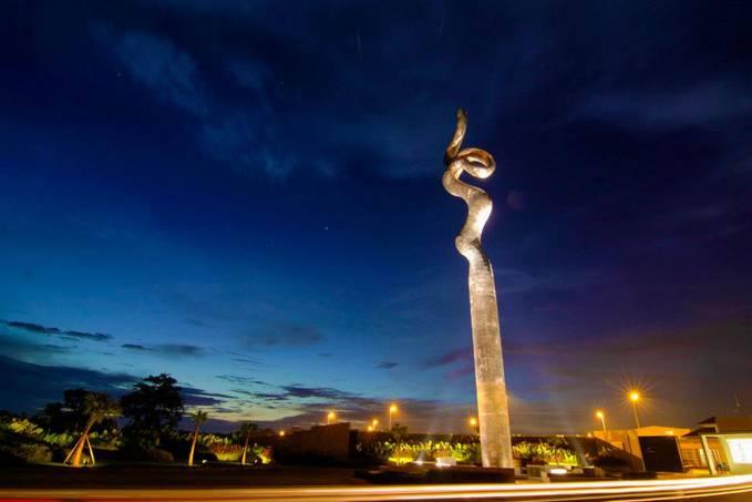 MONUMEN KRETEK INDONESIA ada di Kab. Kudus, Jateng Proyek Oasis PT. Djarum Kudus