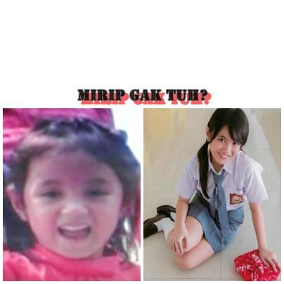 Nih foto Nabilah/Jaenab JKT48 waktu kecil. mirip afiqah?
