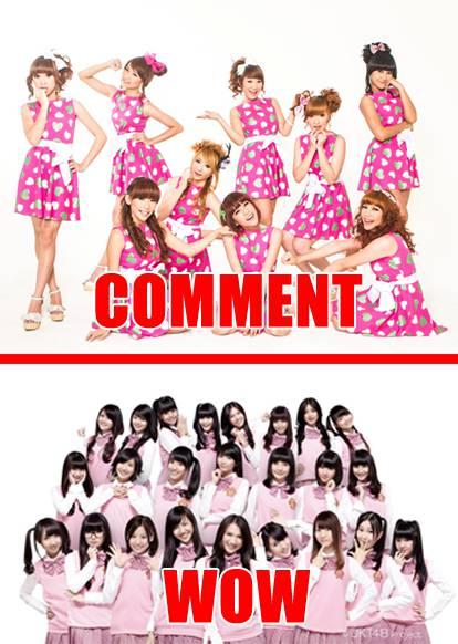 Cherrybelle : Komentar JKT 48 : Klik WOW ntar kita lihat lebih banyak fans yang mana..