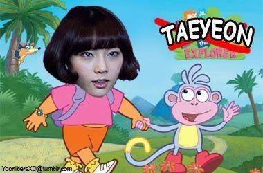 Sejak kapan Taeyeon jadi Dora ? O.o