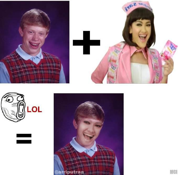 jupe + bad luck brain = hahahaha