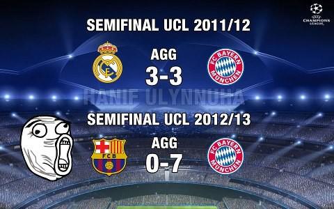 perbedaan Real Madrid vs bayern munchen dqn Barcelona vs Bayern munchen