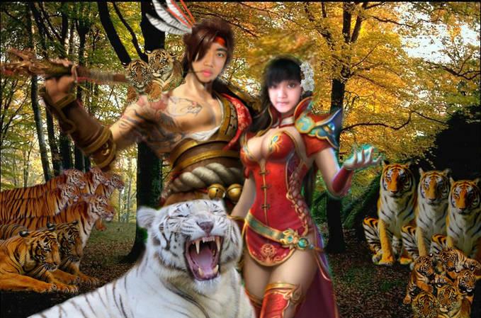 Bombang Larang & Bombang Kencana mereka adalah putra putri kembar prabu Siliwangi yang mendapat titah untuk menjaga hutan sancang menurut legenda mereka dapat menjelma menjadi harimau putih