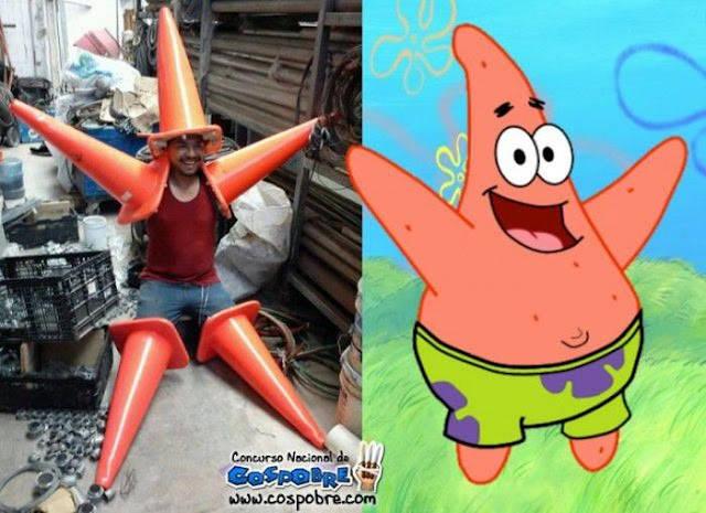 Wkowkowkokw :D... Real Patrick Star Cosplay... Jgn Lupa WoWnya pulsker :)