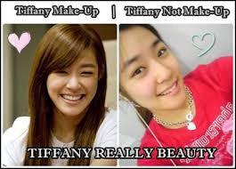 Tiffany SNSD ketika memakai Make up dan ketika tidak memakai make up tetap cantik yach WOWnya donk