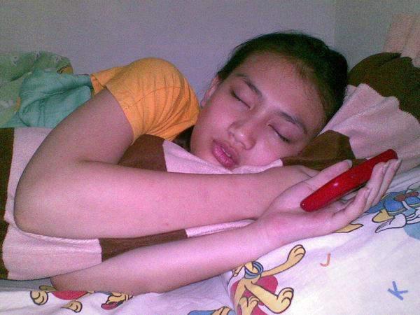 Foto Melody JKT48 lagi tidur.. :D