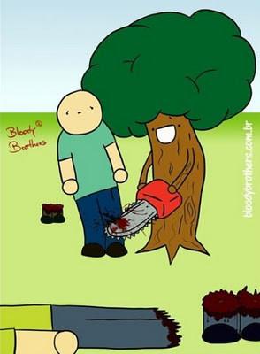 Gara gara sering nebang pohon, ketika di dunia paralel kebalikannya -_- GO GREEN FRIENDS!