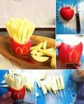 ni adalah French fries yang sehat dan gak bkin gemuk.... wow nya y