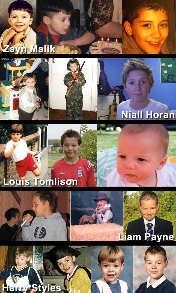 Foto-foto personil One Direction Waktu kecil. lucu lucu ya.. jangan lupa WOW nya ya....