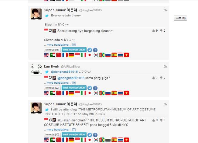 saat eunhyuk dan donghae superjunior berinteraksi di twiter :D