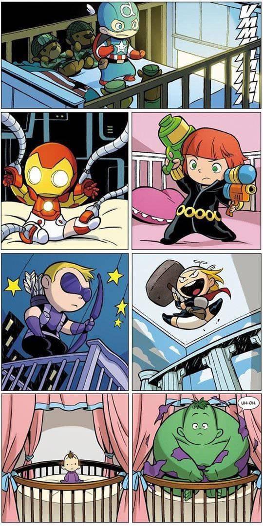 baby avengers