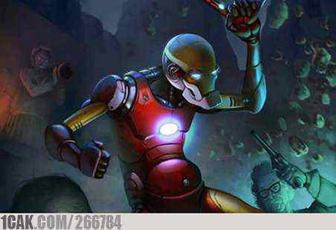 Penampilan Iron Man kalau sudah aki aki XD