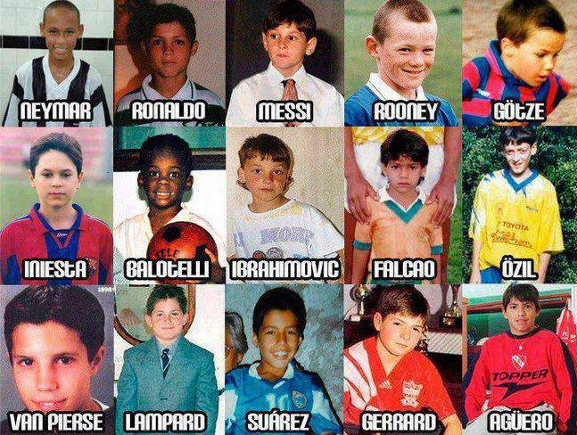 some players when they were kids !