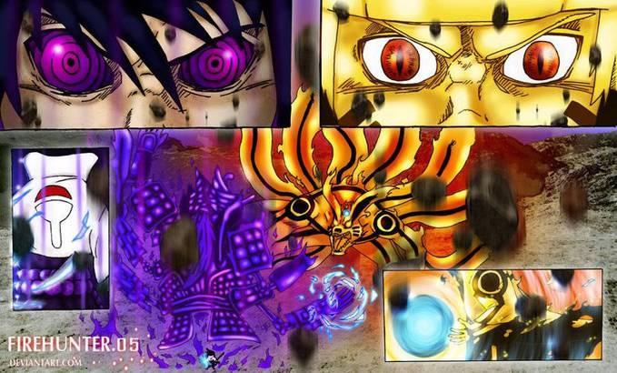 sasuke(susano) vs naruto (kurama).. sypa yang menang ya..?