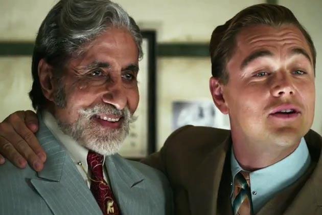 Amitabh Bachchan & Leonardo DiCaprio di saat pembuatan film The Great Gatsby