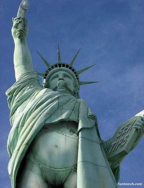 Apa jadinya jika patung liberty seperti ini ?? Klik wow , maka roknya akan turun