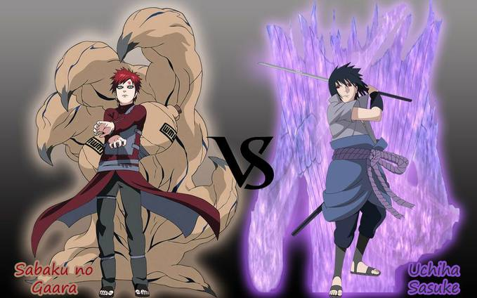 Sabaku no Gaara VS Uchiha Sasuke....... WOW nya ya?