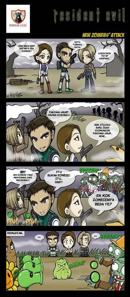 komik lucu tentang resident evil