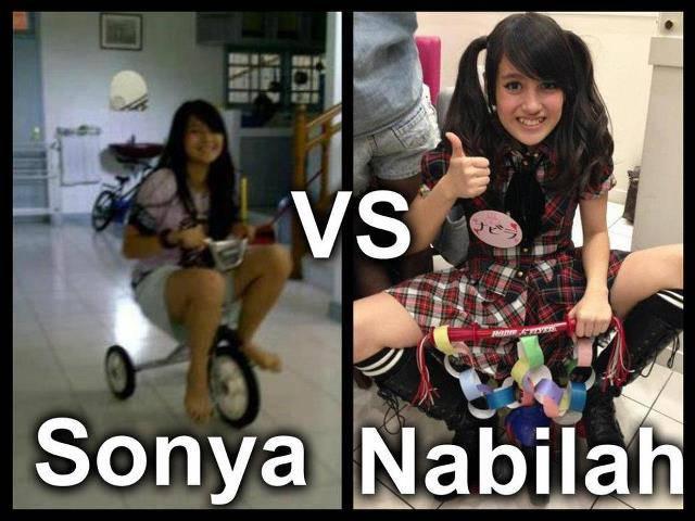 HAHAHAA NE Sonya VS Nabila MEnurut KALian Yg mana MEnang