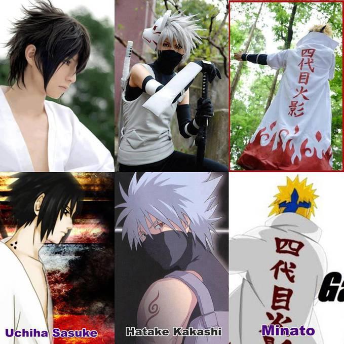Ini yang jadi Sasuke, Kakashi dan Minato Yondaime . Yang jadi Sasuke nya ganteng gak guys ? Jangan lupa WOW nya ya !