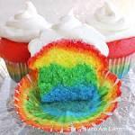 Wah!cupcake nya enak apalagi isinya rainbow cake....Wownya dong....