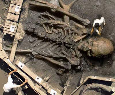 penemuan kerangka manusia raksasa foto kerangka manusia raksasa yang paling terkenal di dunia. Pertama kali muncul di publik lewat sebuah surat kabar India pada Maret 2007