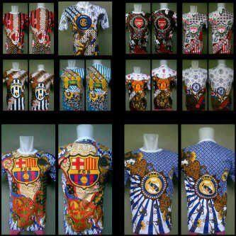 kaos batik bola.. harga 60rb aja... tersedia ukuran M,L,XL Cp : 087756597950