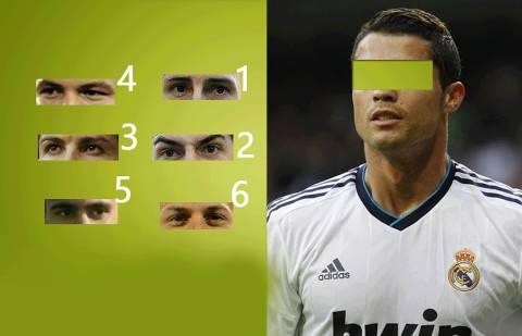 yang mana mata C. Ronaldo ? 1,2,3,4,5 or 6 ?