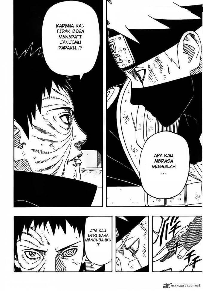 """Fakta Chapter 629 Part 1 Pada chapter ini di jelaskan alasan mengapa kakashi membunuh rinâ?¦dan tentang tekad rikudo sennin yang terlihat di dalam diri naruto """" Juubi melihat bayangan Rikudou Sennin dalam diri Naruto, dan juga bijuu lainnya."""