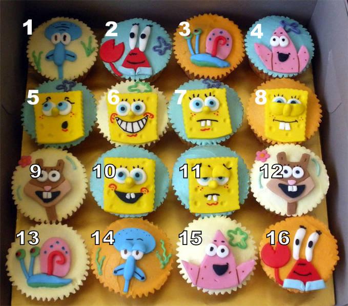 """ini adalah cupcake spongemania :) ayo pilih nomer berapa dan jangan lupa """"WOW""""nya :D"""