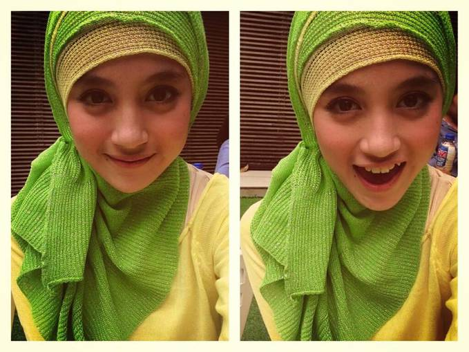 Cantik banget ya, Nabilah pake Jilbab :D Yang oshi-nya Nabilah, WOW dong !!