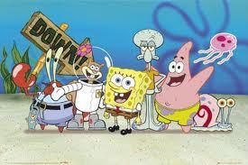 foto bersama keluarga besar spongebob squarepants