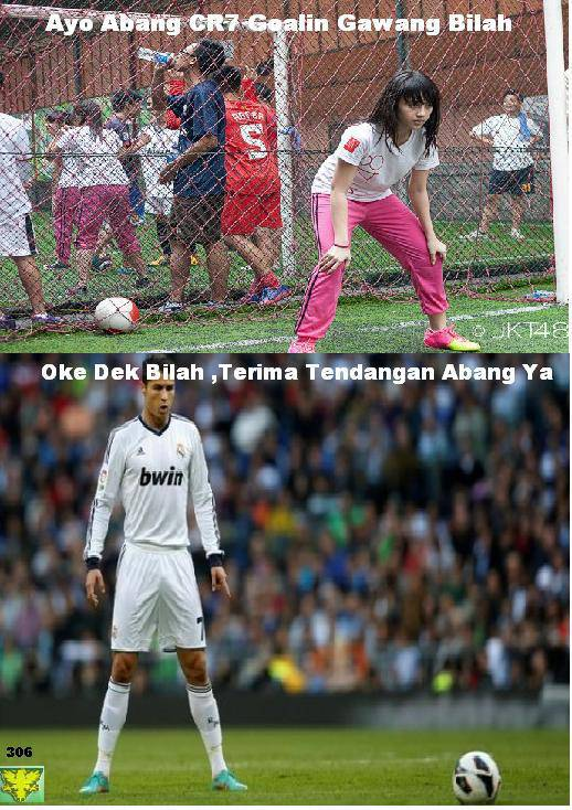NABILA JKT48 Vs C.Ronaldo Real madrid.. WOoow.